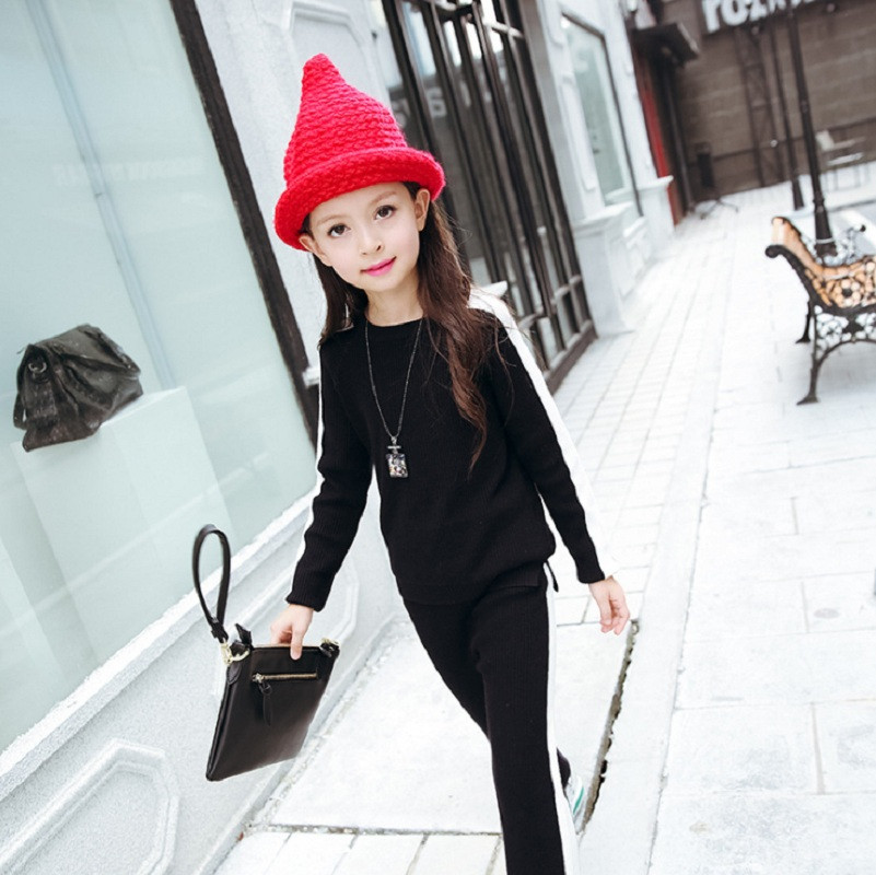 Debby 2pcs set Sporty Sweater Long Sleeve Top & Elastic Pants Sets