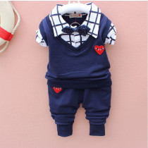 Tillie 3pcs set Checkered Long Sleeve Shirt with Bow & Elastic Pants Sets