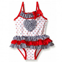 Netty Allover Stars with Ruffle Heart Shape Swimwear