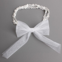 Wynona Lace Crochet with Bow Headband