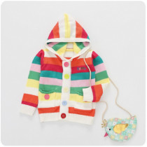 Deanne Candy Color Sweater with Hoodie Coat Jacket