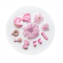 Eliza 10pcs set Pink Floral Hair Clip Accessories Sets