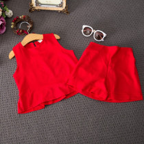 Adelaide 2pcs set Sleeveless A Line Top & Short Pants Set