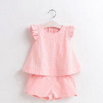 Alicia 2pcs Set Ruffle Sleeveless Top & Short Pants