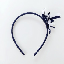 Lauren Blue with White Dots Headband