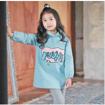 fuuh! Blue and Pink Sweater Dress Sweatshirt Hoodie