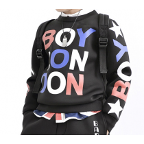 BOY LONDON Printed Graphics Long Sleeve Neoprene Sweater Shirt
