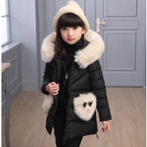 Selena Black 3pcs Winter Snow Padded Hoodie Vest Jacket Fur Sweater Pants Set