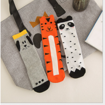 Girl's Animal Kingdom Panda Dog and Tiger Knee High Socks