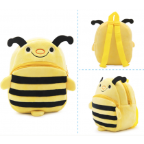 Cute Soft & Fluffy Velvet Backpack for Preschooler Baby Toddler Bumble Bee