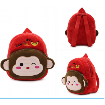Cute Soft & Fluffy Velvet Backpack for Preschooler Baby Toddler Elephant Monkey