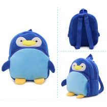 Cute Soft & Fluffy Velvet Backpack for Preschooler Baby Toddler Penguin