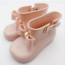 Cute Bowknot Wellington Hi Top Pastel Silicon Rain boots