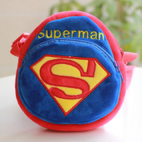 Hero Superman Soft & Fluffy Velvet Crossbody Bag for Baby Toddler
