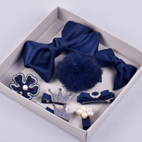 Naja 8pcs set Navy Hair Clip Accessories Sets