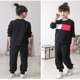 Jeanne 2pcs set Sporty Long Sleeve Top Blouse & Elastic Pants Sets