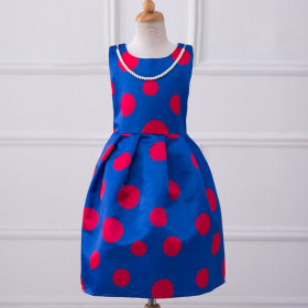 Nelly Dots Printed Pleated Sleeveless Dress