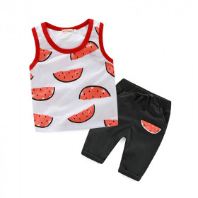 Watermelon 2pcs set Vest Top & Elastic Pants Set