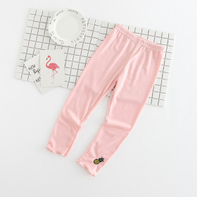 Braylee Vegetables Embroidery Elastic Pants