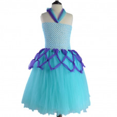 Mermaid Chiffon Halter Princess Party Tutu Dress