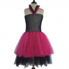Carlene Halloween Chiffon with Mesh Halter Princess Party Tutu Dress