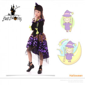 Bridie Halloween Chiffon Mesh Long Sleeve Cosplay Dress