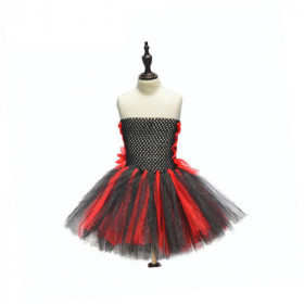 Vampire Halloween Chiffon Strapless Princess Party Tutu Dress