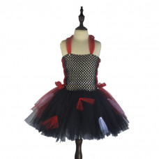 Vampire Halloween Chiffon Halter Princess Party Tutu Dress