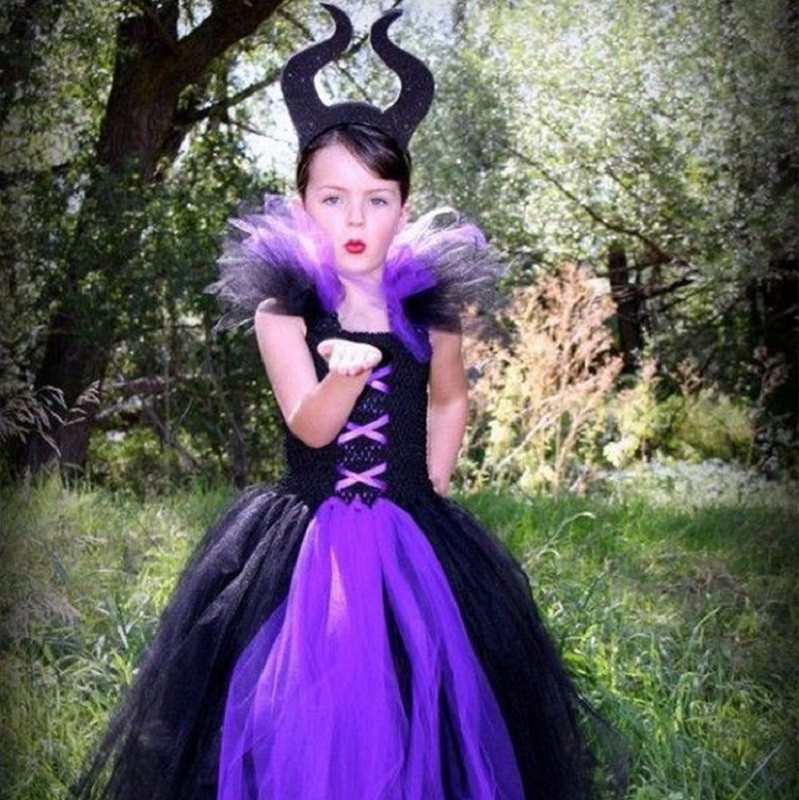 Debora Evil Queen Halloween Chiffon Princess Party Tutu Dress