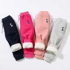 Ainsley Cotton with Fur Elastic Pants