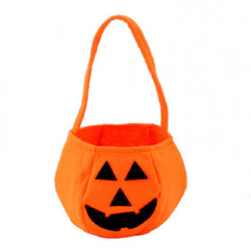 Halloween Pumpkin Soft & Fluffy Velvet Hand Bag