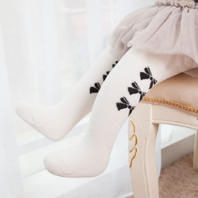 Bonquesha Bow Printed Stockings Tights Socks